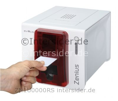 Evolis Zenius Classic line Farb Thermosublimation Thermotransfer Drucker braun