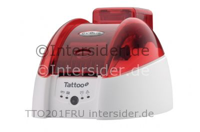 Evolis Tattoo 2 Bundle Farb Thermosublimation Thermotransfer Drucker 300 dpi