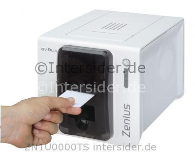 Evolis Zenius Classic line Farb Thermosublimation Thermotransfer Drucker rot